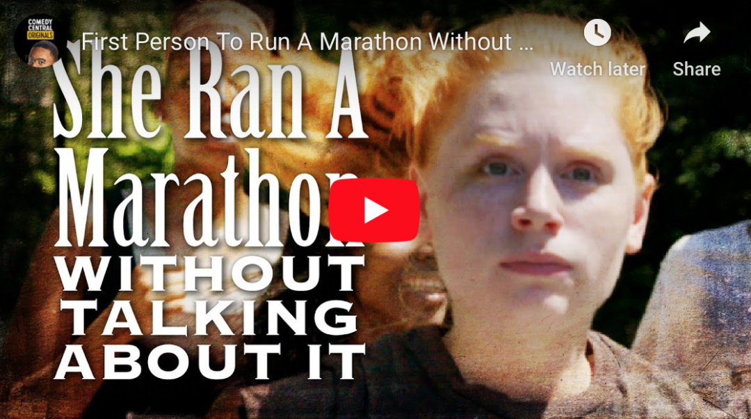 Could you run a marathon and not tell anyone?